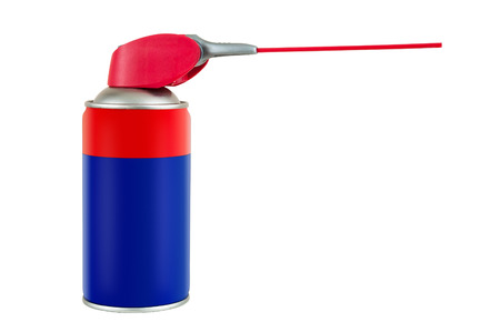 kunststoff rohr: Spray can with plastic pipe isolated on white background with clipping path Lizenzfreie Bilder