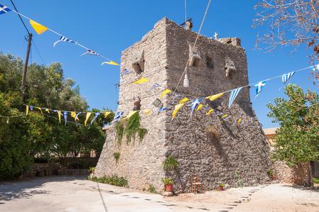Tower of Anafonitria Monastery on Zakynthos Island, Greece
