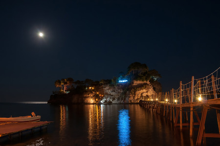 cameo: Cameo Island at night- the most popular Zante wedding locations in the Greek islands