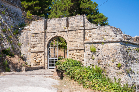 zakynthos: Gate to the Venetian Castle Bohali in Zakynthos city, Greece