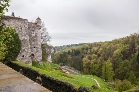 skala: View of the valley of river Pradnik in Pieskowa Skala, Poland