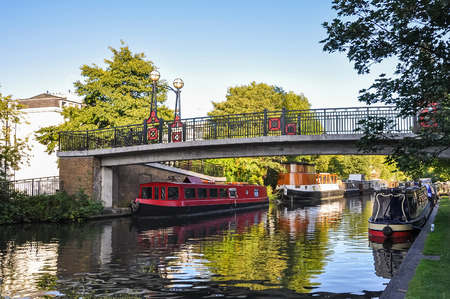 little venice: Little Venice canal on London, United Kingdom Stock Photo