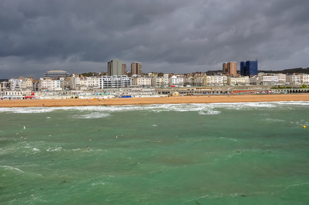 brighton: Panorama Brighton on a cloudy day, East Sussex, United Kingdom