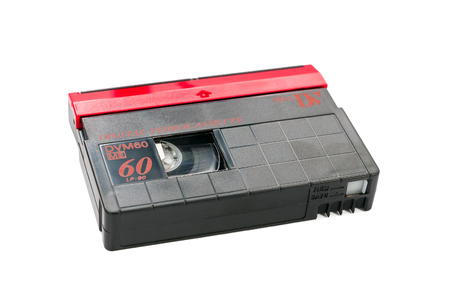 videocassette: MiniDV video cassette isolated on white background with clipping path