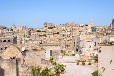 Sasso Caveoso district in the Sassi of Matera, Basilicata, Italy