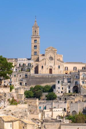 View of Matera Cathedral, Basilicata, southern Italy