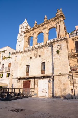 Building of Sedile Palace on the Mercantile square in Bari, Apulia, Italy Stock Photo