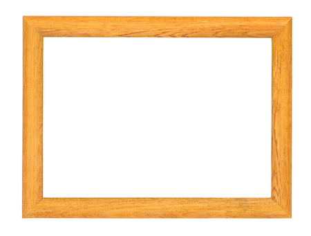 Wooden picture frame isolated on white background 스톡 콘텐츠