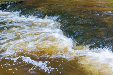 Abstract natural background made of flowing water in the river