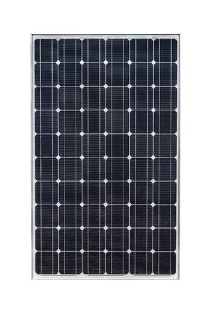 Panel solar aislado sobre fondo blanco.