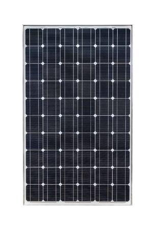 Panneau solaire isolé sur fond blanc