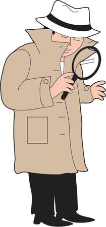 Detective Ilustracja