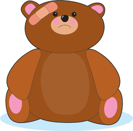 Hurt Teddy Bear Stock Vector - 601705
