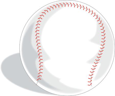 Ein Single Baseball auf einem wei�en Hintergrund Illustration