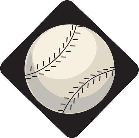 baseball diamond: �nica de b�isbol sobre un fondo negro de diamantes  Vectores