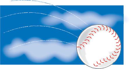 A Single baseball flying through the air Stock Vector - 718230