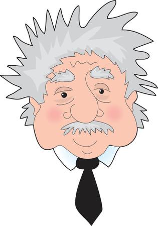 albert: A Funny Portrait of Albert Einsteins face Editorial
