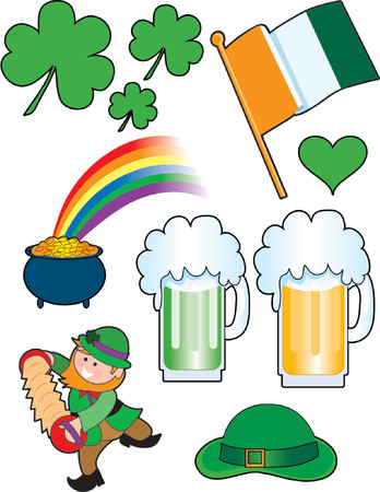A great collection of cool little Irish images Stock Vector - 825975