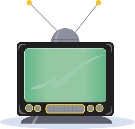 Alter Umgearbeiteter Fernsehapparat Satz