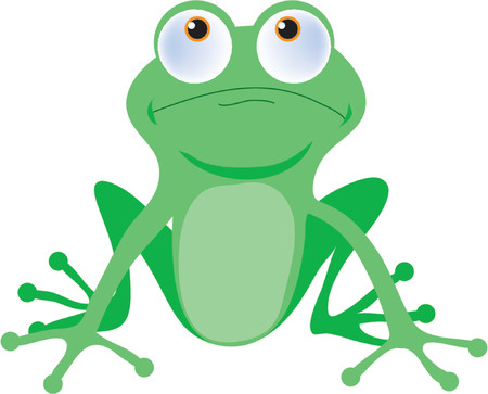 Green tree frog with big buggy eyes