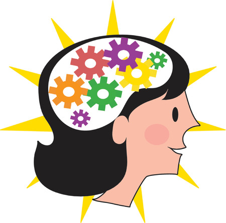 smart girl: A visual of the inside of a womans brain