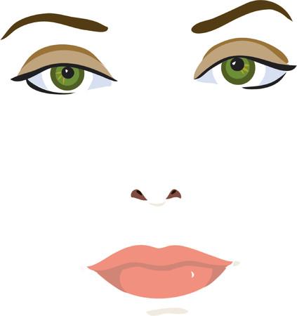brow: Pieno volto di una bella donna con splendidi occhi