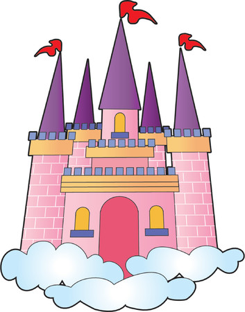 battlements: Fantasy castle on a bed of clouds