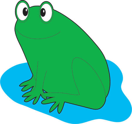 A single frog on a white background