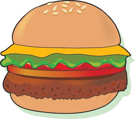 sesame: Big juiicy cheese burger on a sesame seed bun