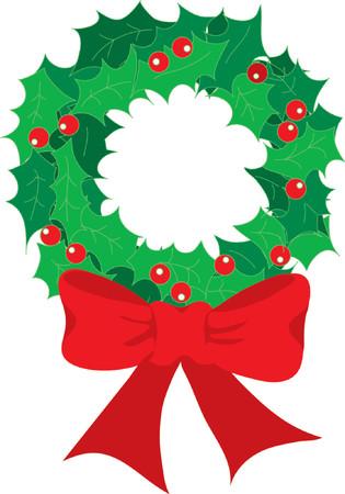 door bell: Christmas Wreath