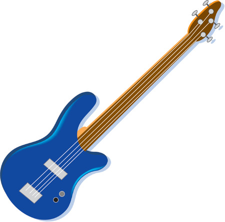 A Blue electric guitar on a white background Stok Fotoğraf - 1280148