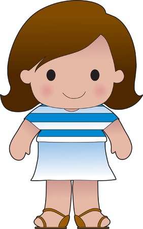 grecian: Little girl in a shirt with the Greek flag on it