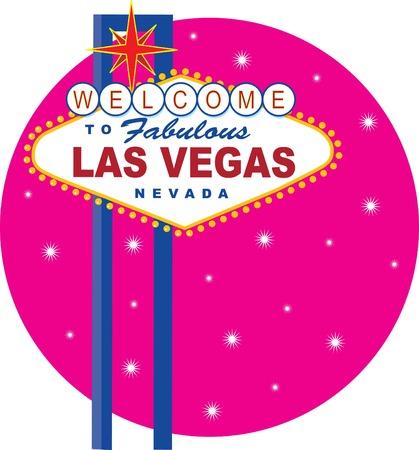 Vector Illustration des ber�hmten Las Vegas Schild  Illustration
