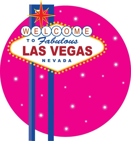 neon sign: Vector illustration of the famous Las Vegas sign Illustration