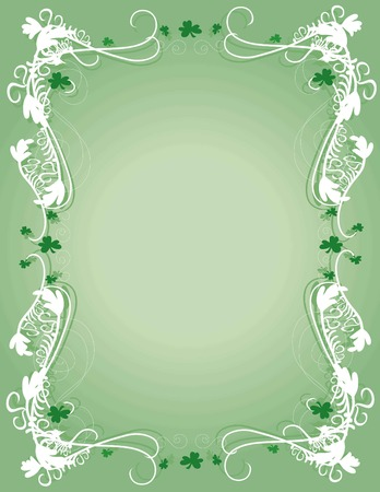 scroll border: A decorative background for St Patricks day