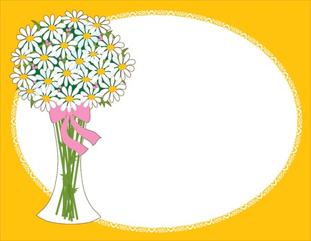 Vase of daisies - perfect for scrapbooking or invitations Vector