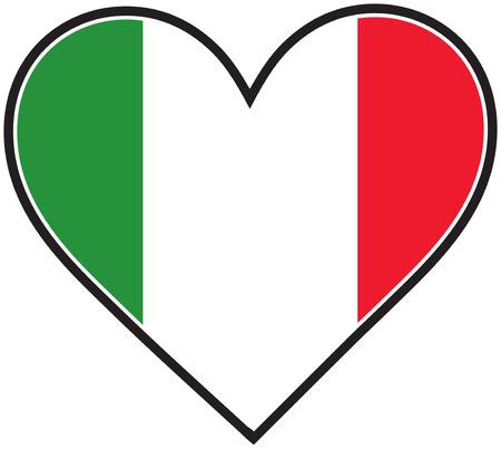The Italian flag in the shape of a heart