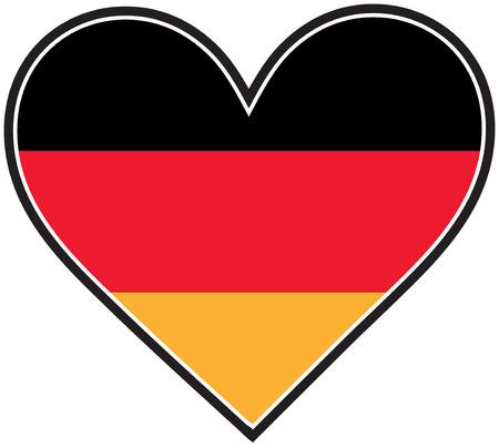 心のような形をしたドイツの旗 写真素材 - 4379690