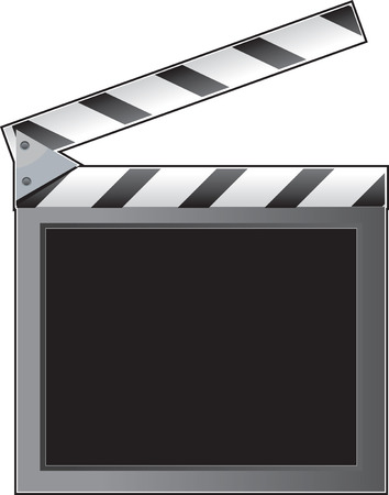 slate: A film slate or clapboard with an empty space for text
