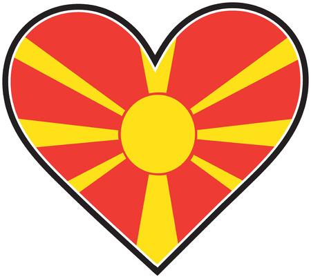 nationalities: A Macedonian flag shaped like a heart