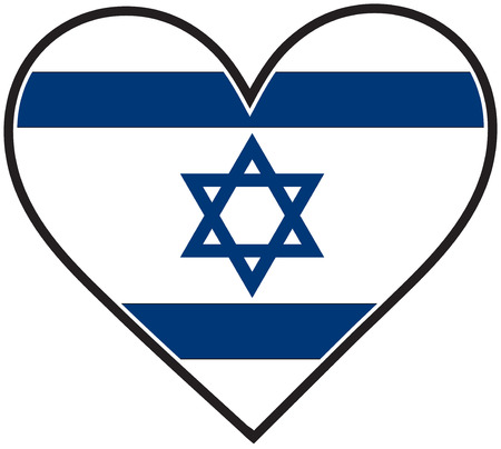 israeli: Una bandera israel� en forma de coraz�n