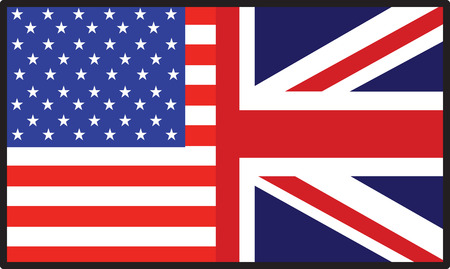 A flag that's half American and half  British Stock Vector - 5736888