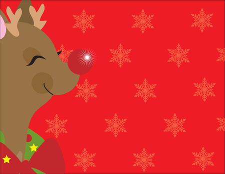 rudolf: A frame with Rudolf the Reindeers head