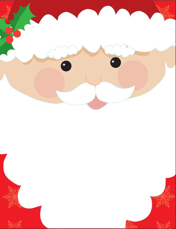 Santa's head with his beard to be used for text