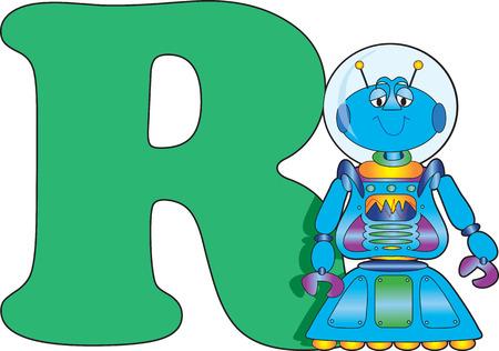 로봇과 문자 R