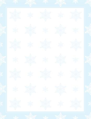 フレームまたはパターンで雪のボーダー 写真素材 - 7908623