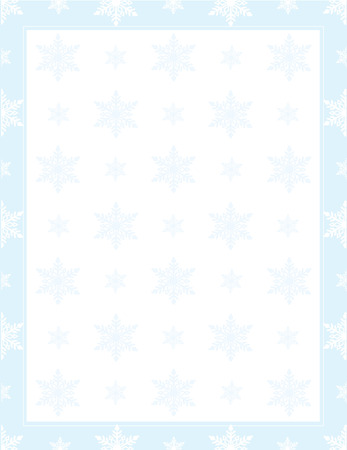 A frame or border with snowflakes in a pattern Çizim