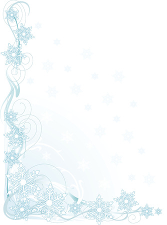 snowflake: A border or frame featuring stylized snowflakes