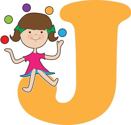 juggling: Alfabeto Chica J