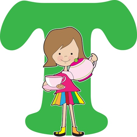 Alphabet Girl T Vector